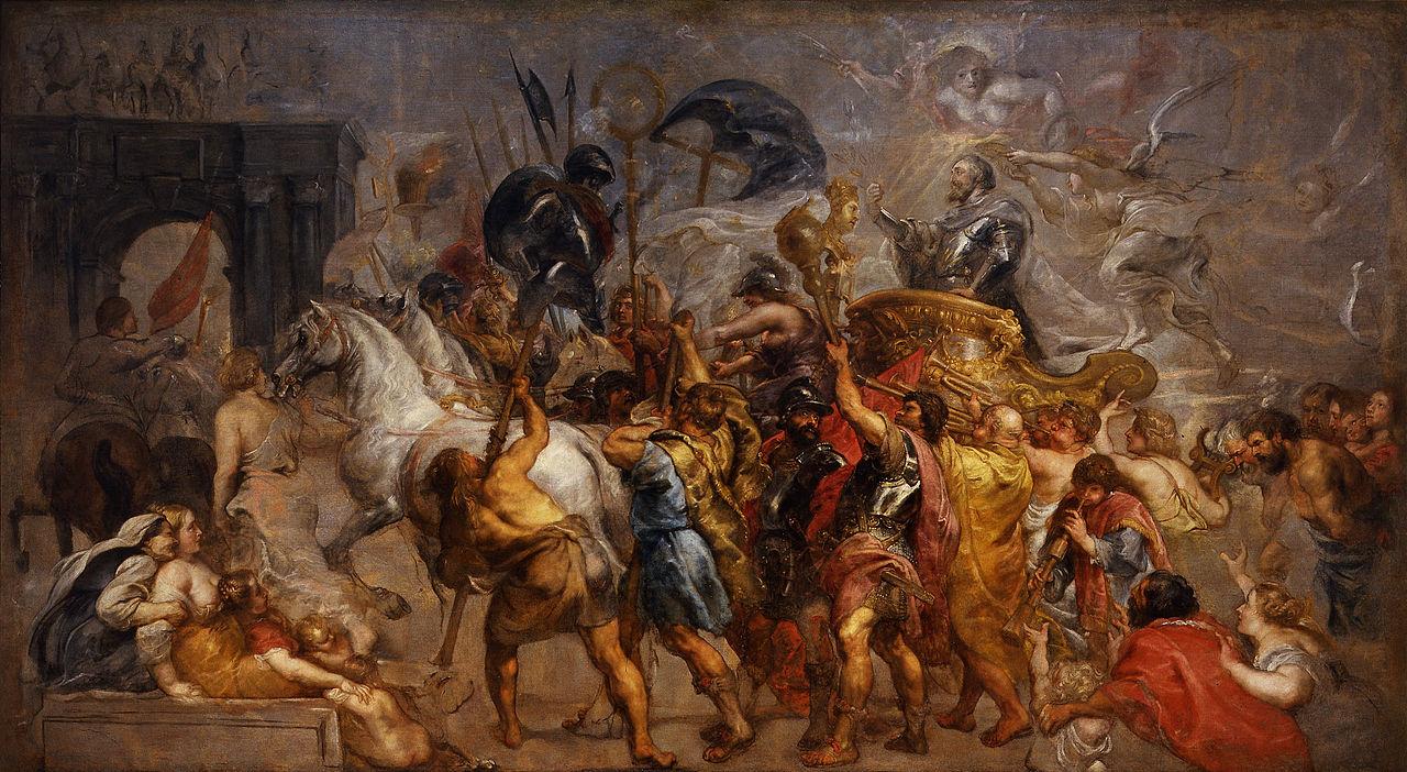 Rubens - Wejscie Henryka IV do Paryza
