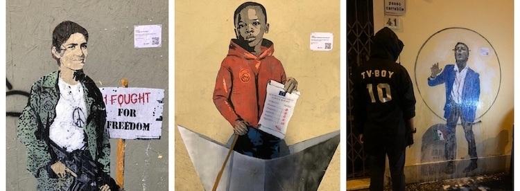tvboy street art florencja