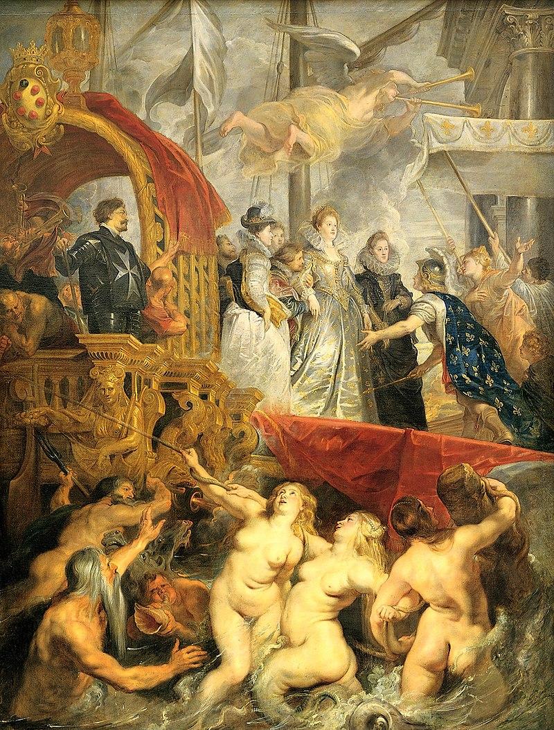 Przyjazd Marii Medycejskiej do Marsylii - Rubens