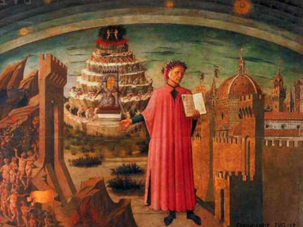 Dante Boska Komedia fresk Duomo Domenico Michelino