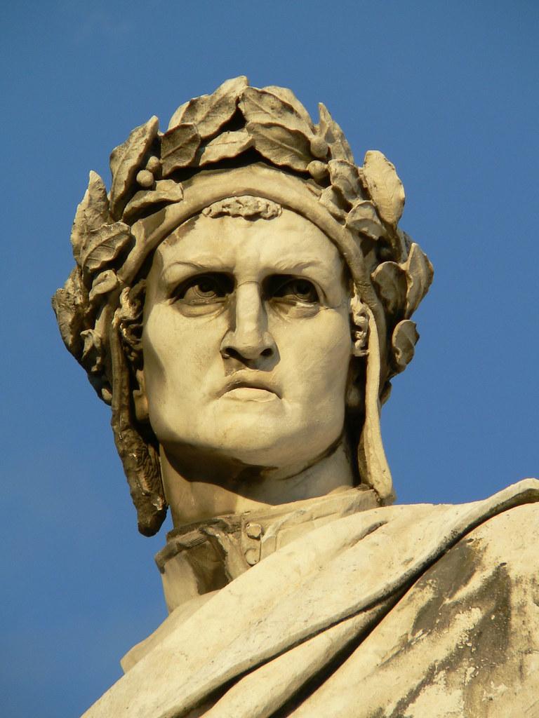 Dante rzezba Enrico Pazzi
