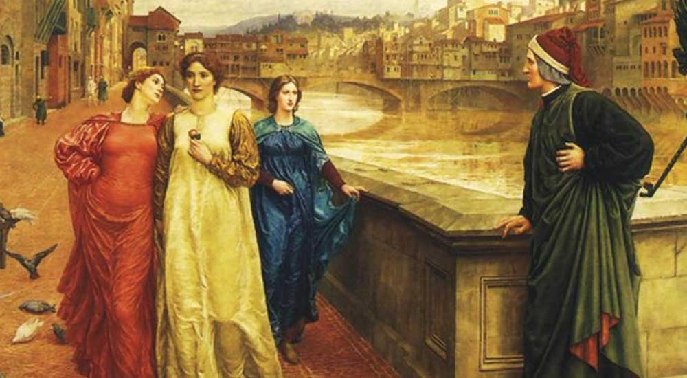 Spotkanie Dante i Beatrice - Henry Holida