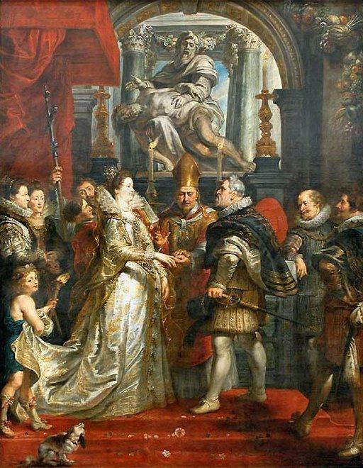 Rubens - Slub Marii Medycejskiej