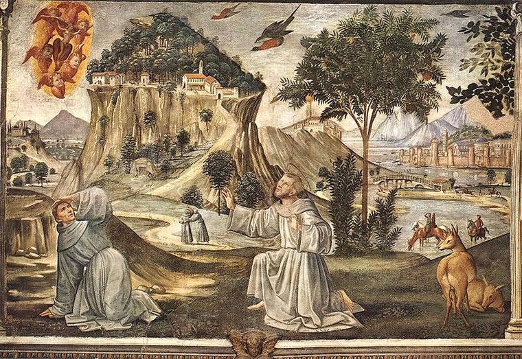 D. Ghirlandaio - Sw. Franciszek otrzymuje stygmaty