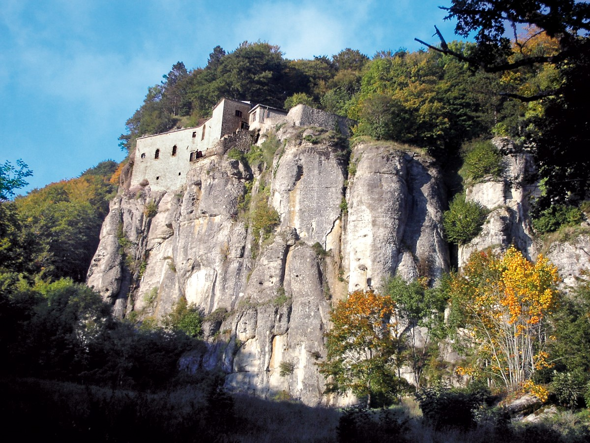 Sanktuarium la Verna, widok zbocza