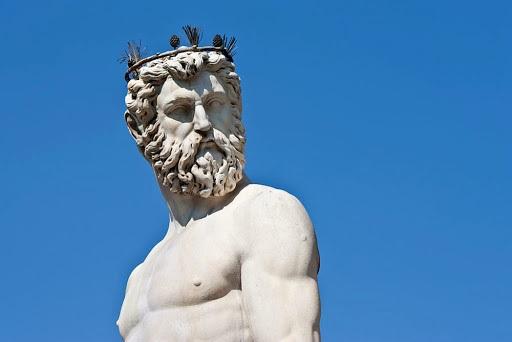 Fontanna Neptuna we Florencji, twarz Neptuna