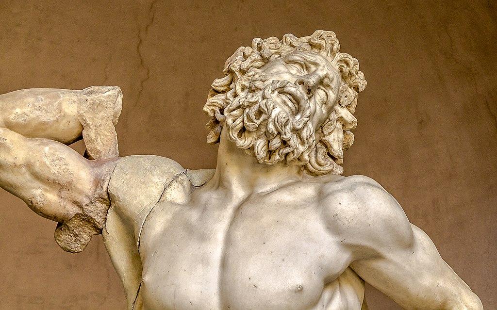 Laokoon szczegół twarzy - Muzea Watykańskie