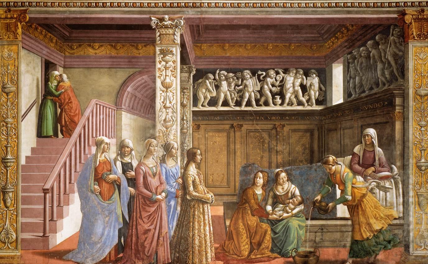 Kaplica Tornabuoni, freski - Santa Maria Novella, Florencja