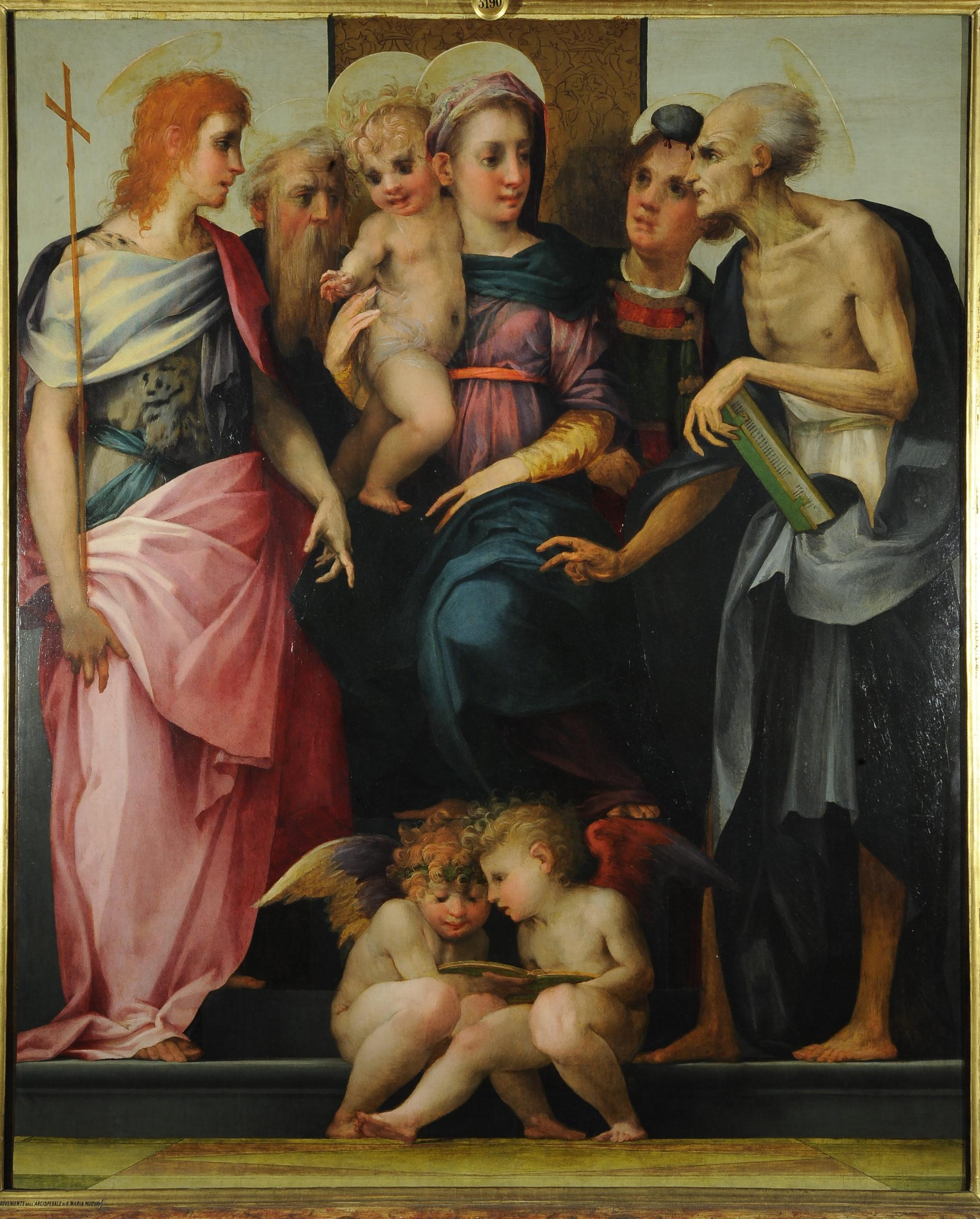 Rosso Fiorentino - Pala Spedalingo, Uffizi