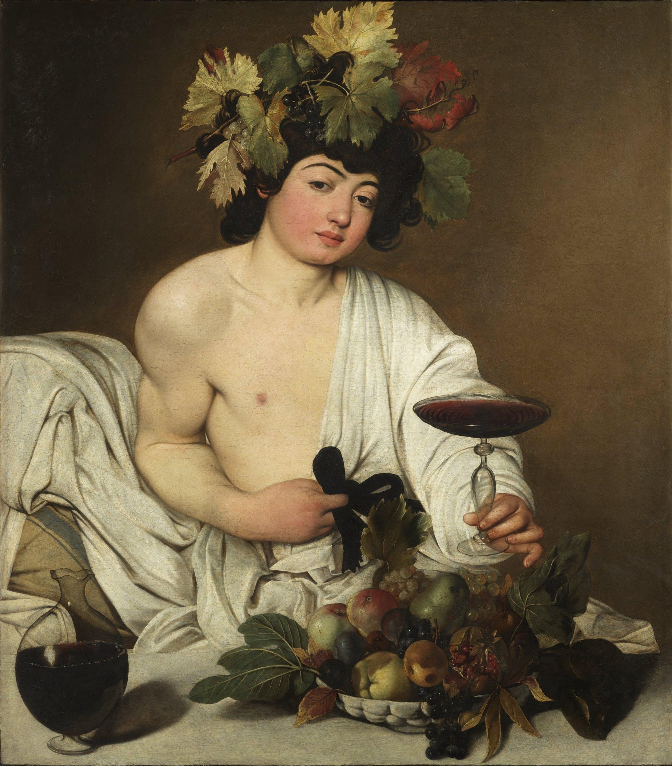 Bachus, Caravaggio, Uffizi