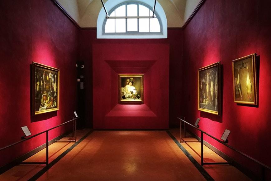 Caravaggio, Bachus, sala Uffizi