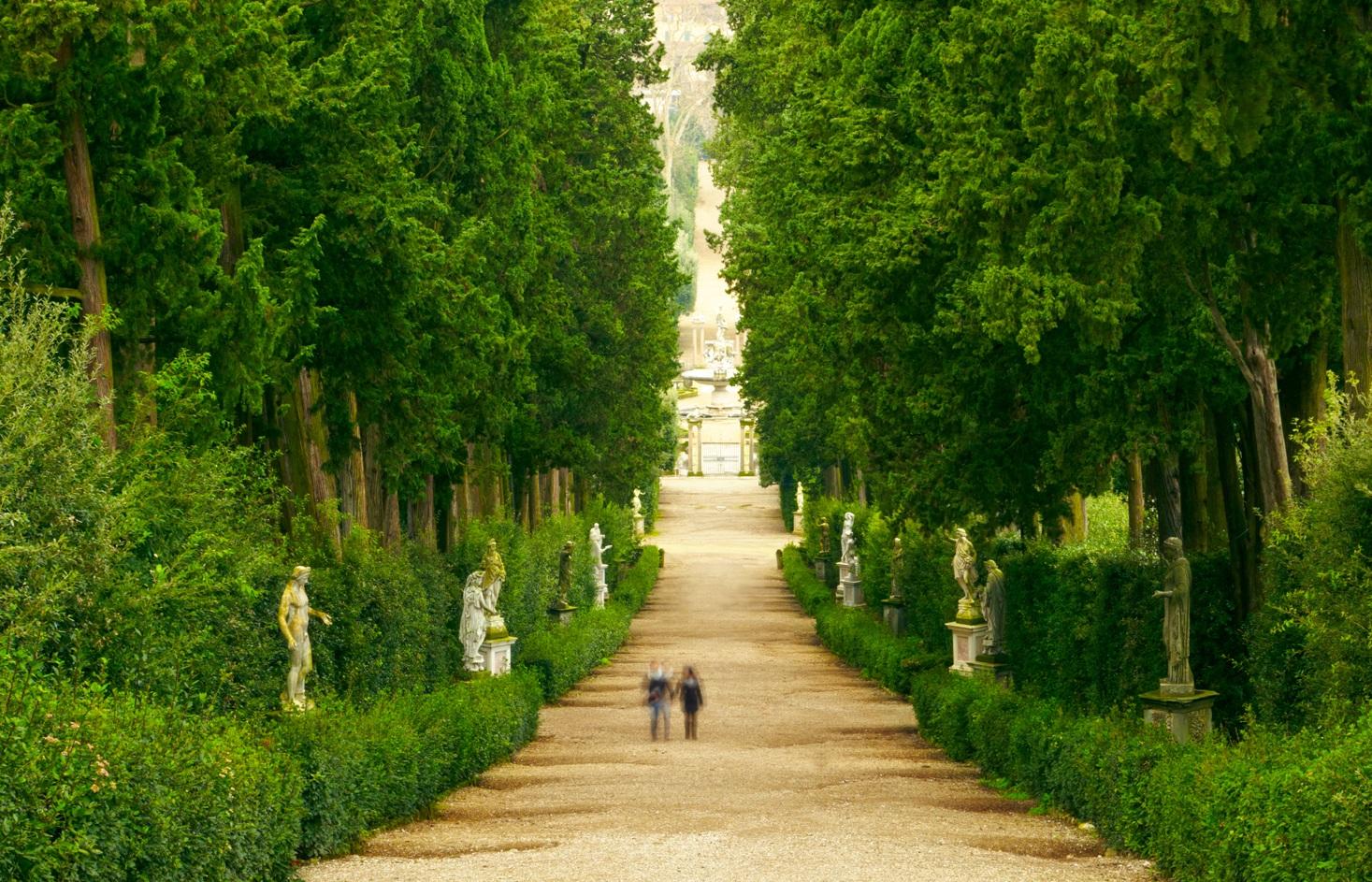 Ogrod Boboli aleja