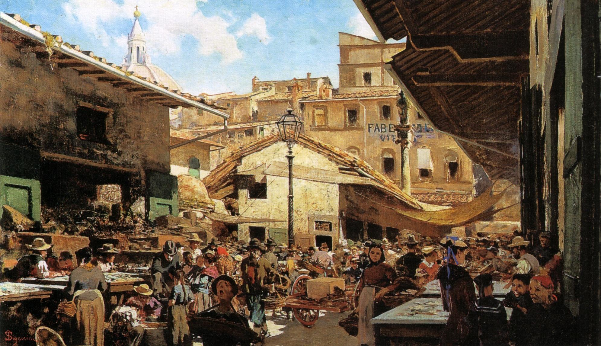 Telemaco Signorini, Mercato Vecchio Firenze