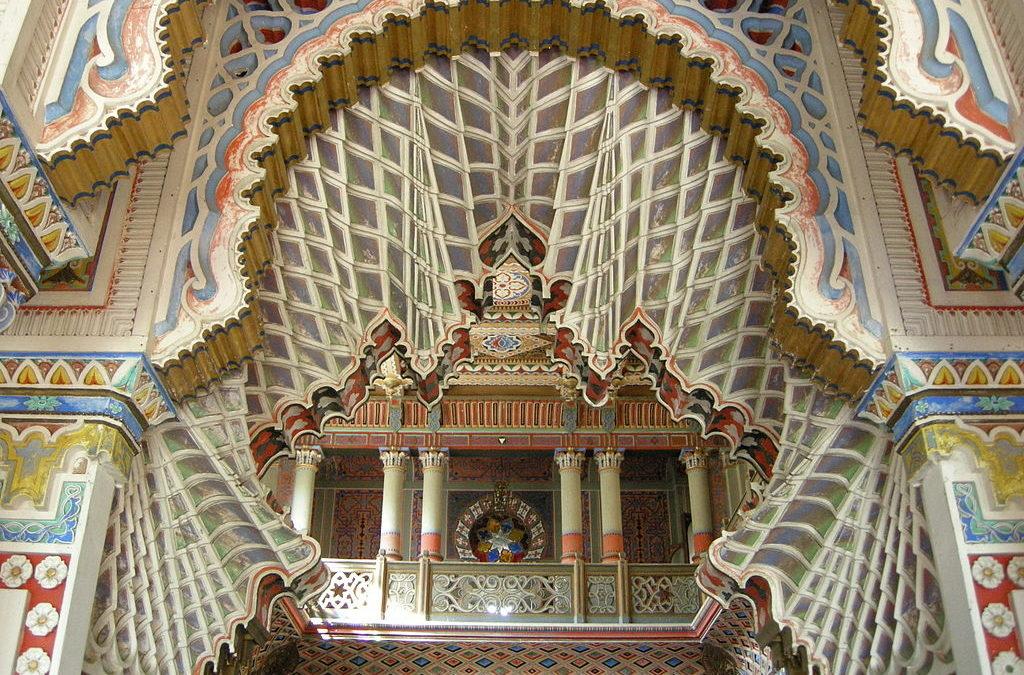 Sala liliowa, zamek Sammezzano w Toskanii
