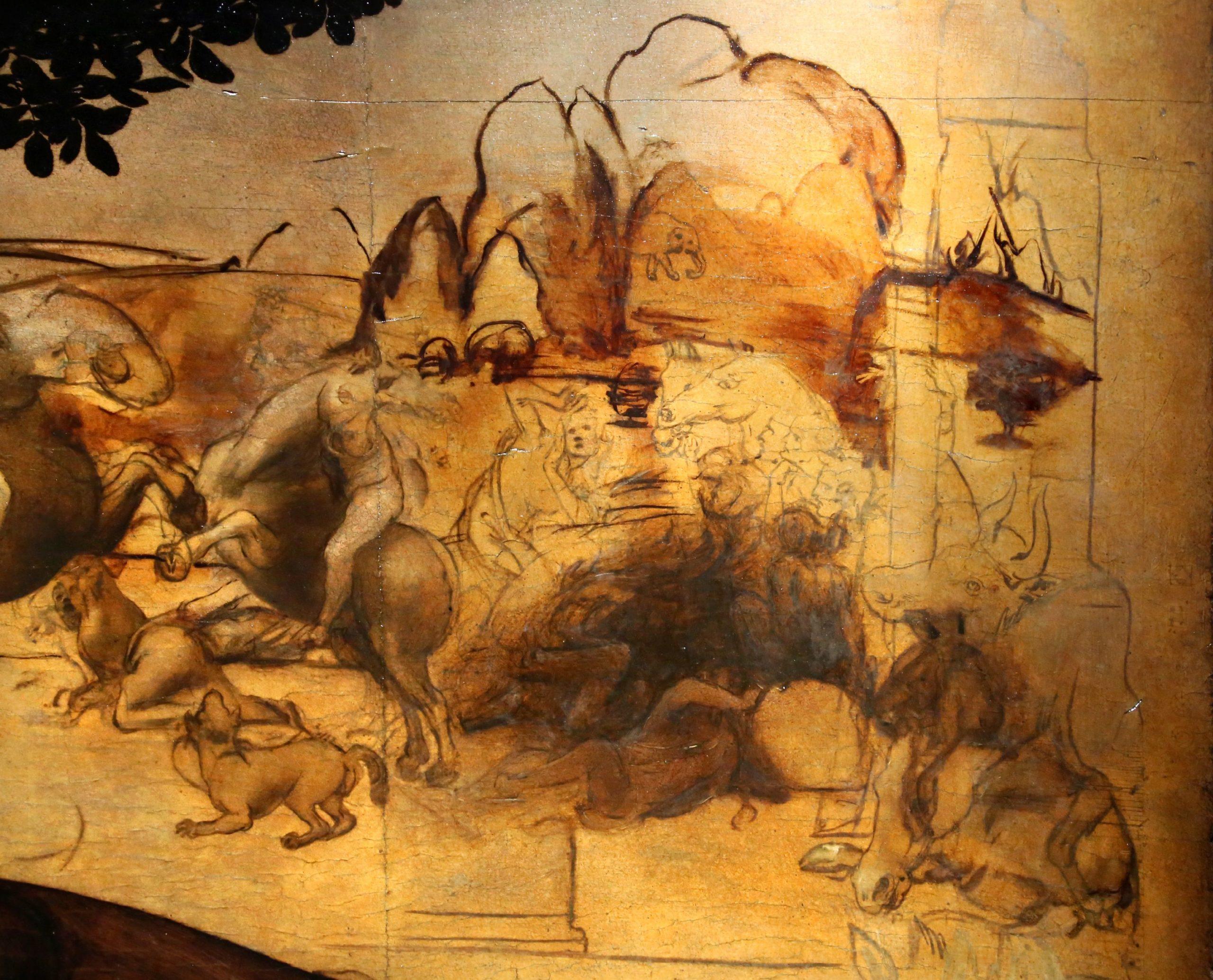 Adoracja trzech kroli, Leonardo da Vinci