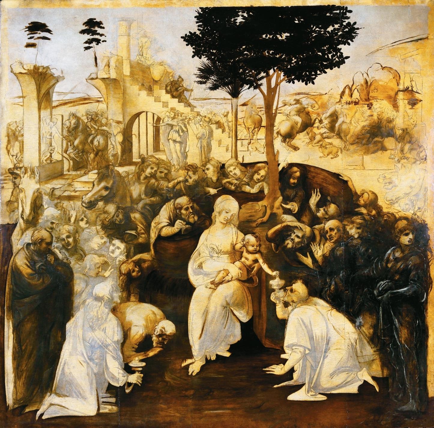 Leonardo da Vinci Adoracja Trzech Kroli