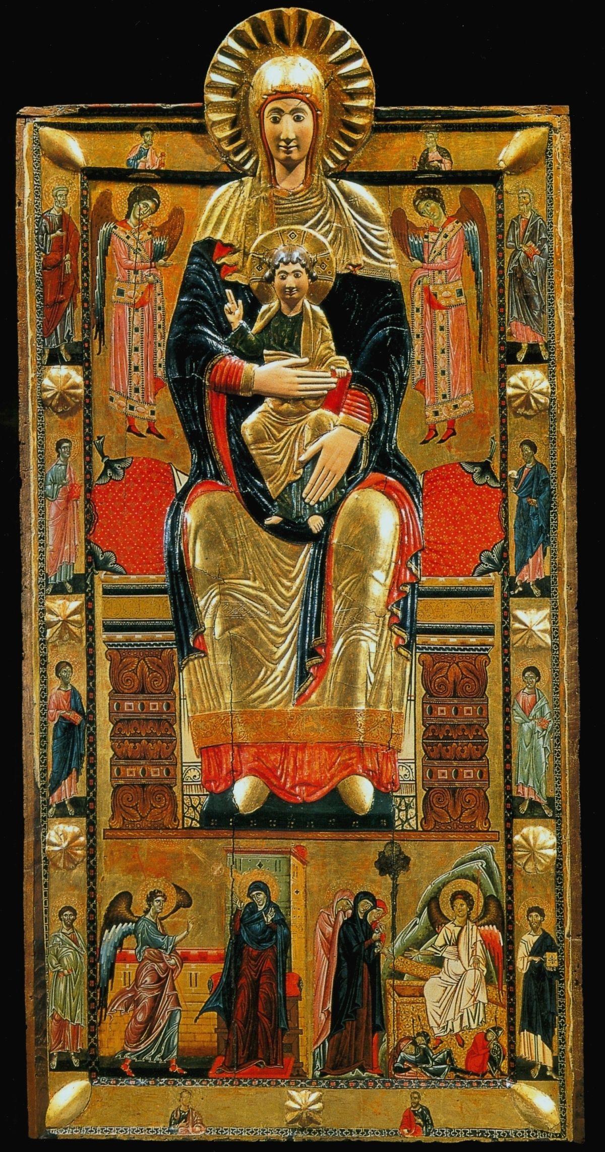 Obraz Coppo di Marcovaldo, kosciol Santa Maria Maggiore we Florencji