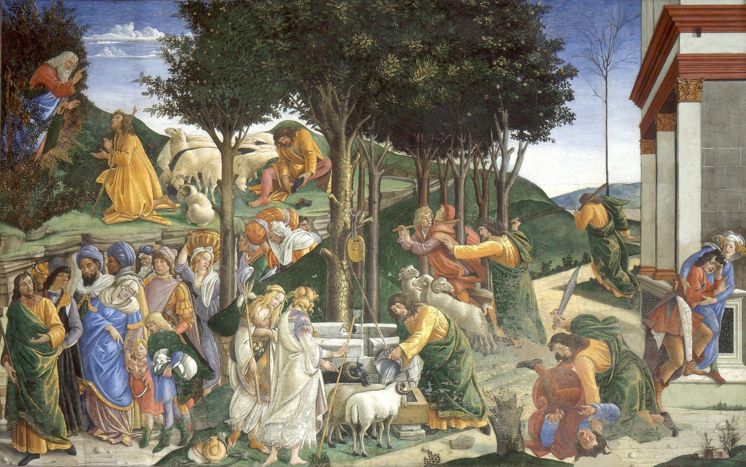 Fresk w Kaplicy Sykstynskiej, Sandro Botticelli