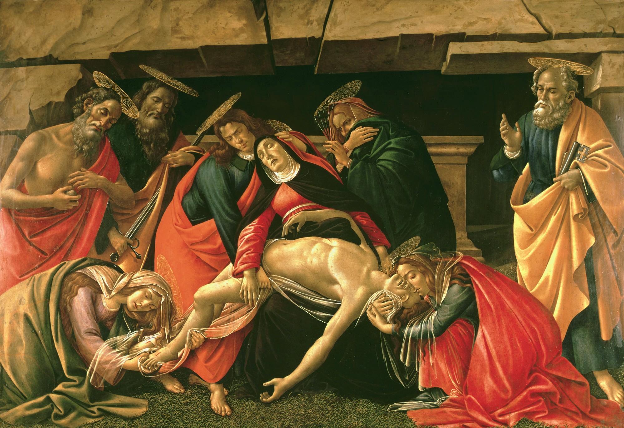 Sandro Botticelli, Oplakiwanie Chrystusa, pozniejszy obraz artysty
