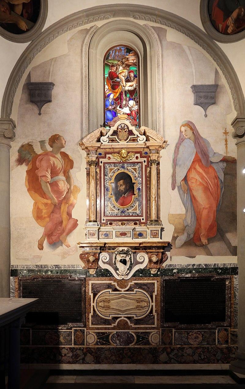 kaplica Capponi Florencja, Zwiastowanie, Jacopo Pontormo