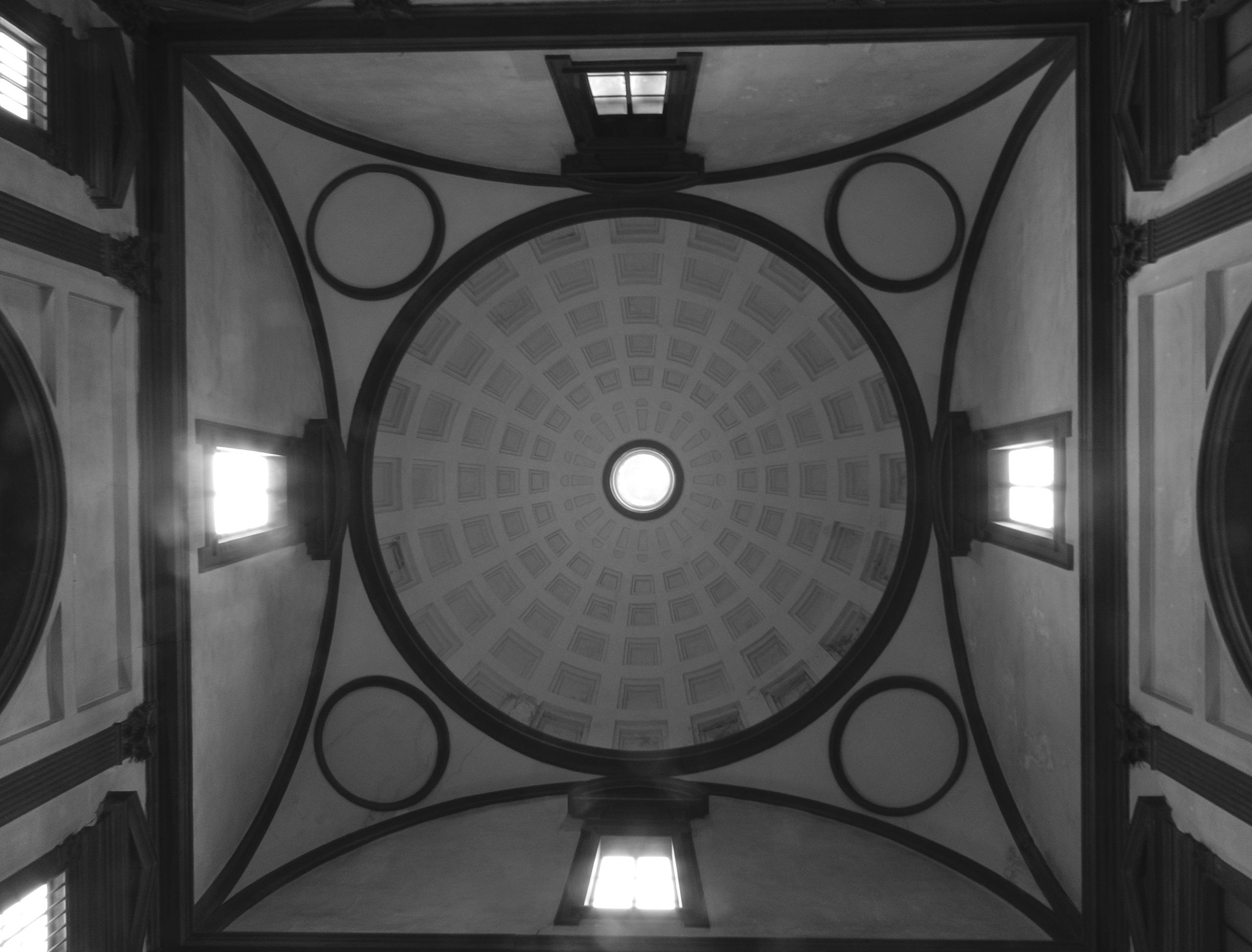 Nowa Zakrystia, Florencja, widok na kopule